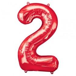 Ballon Rouge chiffre 2