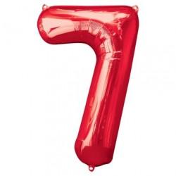 Ballon Rouge chiffre 7