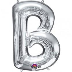 Ballon argenté lettre B