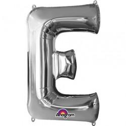 Ballon argenté lettre E