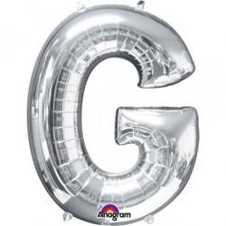 Ballon argenté lettre G