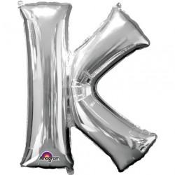 Ballon argenté lettre K