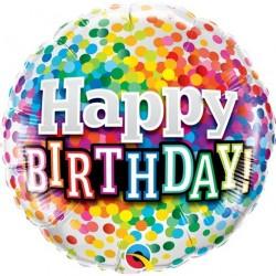 Ballon Alu Happy birthday- Arc en ciel