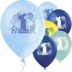 "Ballons latex  12"" 1an- BLEU paquet de 8"