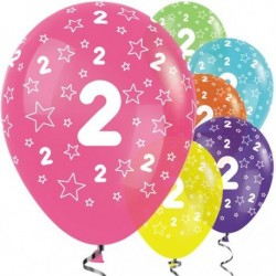 "Ballons latex 12"" 2ans paquet de 25"