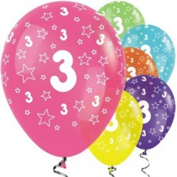 "Ballons latex 12"" 3ans paquet de 25"
