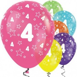 "Ballons latex 12"" 4ans paquet de 25"