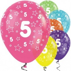 "Ballons latex 12"" 5ans paquet de 25"