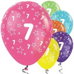 "Ballons latex 12"" 7ans paquet de 25"