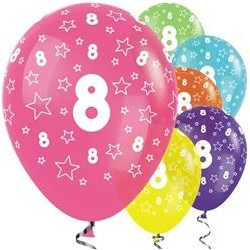 "Ballons latex 12"" 8ans paquet de 25"