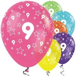 "Ballons latex 12"" 9ans paquet de 25"