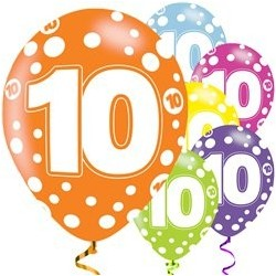 "Ballons latex 11"" 10ans paquet de 6"