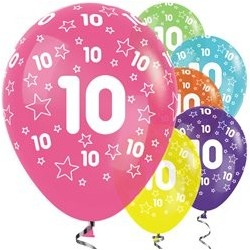 "Ballons latex 12"" 10ans paquet de 25"