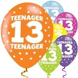 """Ballons latex 11"""" 13ans - Ado paquet de 6"""