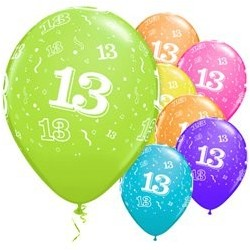 "Ballons latex 11"" 13ans paquet de 6"