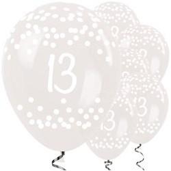 """Ballons latex 12"""" 13ans - Clair paquet de 25"""