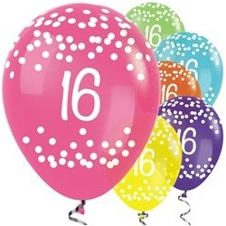 "Ballons latex 12"" 16ans -Tropical Mix paquet de 25"