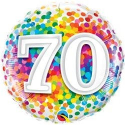 Ballon Happy birthday Multicolore 70ans