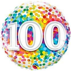 Ballon Happy birthday Multicolore 100ans