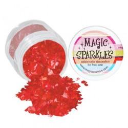 Étincelles magiques rouges