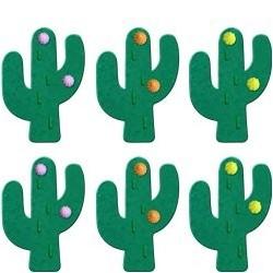 Décoration en sucre Cactus 6 pièces