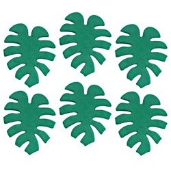 Décoration en sucre feuilles 6 pièces