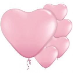 """Ballon Cœur Rose Clair 11""""ou 28cm Latex"""