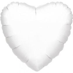 """Ballon Alu Coeur Blanc 18"""" ou 48cm"""