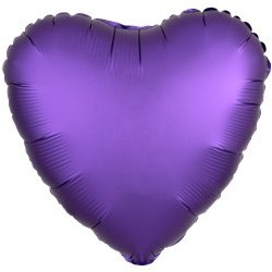 "Ballon Alu Purple 18"" ou 48cm"