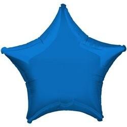 "Ballon Alu Etoile Bleu 18"" ou 48 cm"