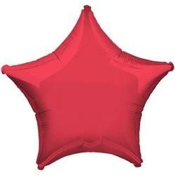"Ballon Alu Etoile Rouge 18"" ou 48 cm"