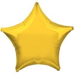 """Ballon Alu Etoile Jaune 18"""" ou 48 cm"""