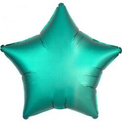 "Ballon Alu Etoile Jade satin 18"" ou 48 cm"