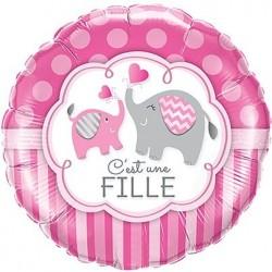Ballon Alu naissance fille
