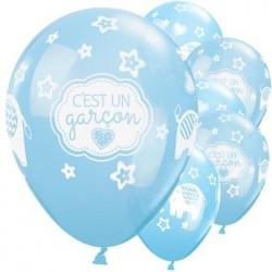 "Ballon latex Naissance garçon 11"" ou 28 cm"