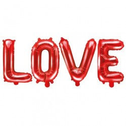 Ballon Alu Love rouge 55""