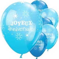 Ballon Joyeux anniversaire Bleu