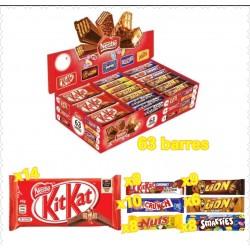 Pack de 63 barres chocobox Nestlé