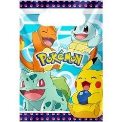 8 sachets en plastique Pokémon