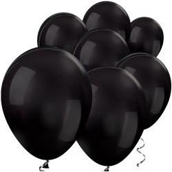 "100 Ballons noirs métalliques 5"" (12 cm)"