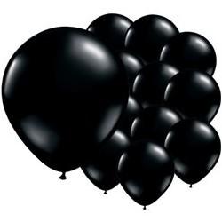 "100 Ballons noirs onyx 5"" (12 cm)"