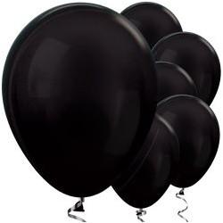 "50 Ballons noirs métalliques 12"" (31 cm)"