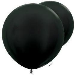 """2 Ballons géants noirs métalliques 36"""" (91 cm)"""