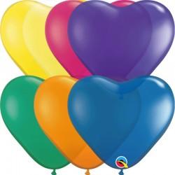 "100 Ballons cœur jewel 6"" (14 cm)"