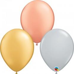 """100 Ballons Tricolores 5"""" (12 cm)"""