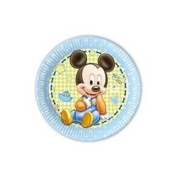 Assiette en carton 23 cm Baby Mickey