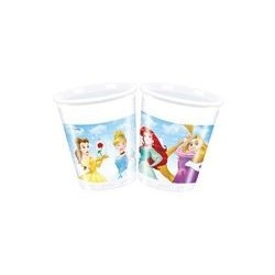 8 Gobelets en carton 20 cl Princesses Disney
