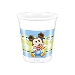 8 Gobelets en carton 20 cl Baby Mickey