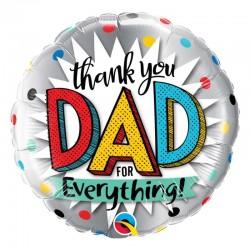 Ballons aluminium - Merci papa pour tout