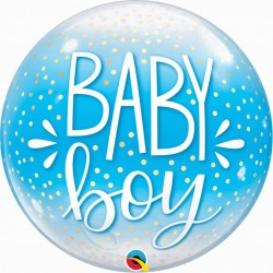 "Ballon Bubble confetti7 baby boy 22"" (56 cm)"